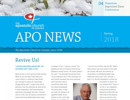 The Apostolic Church in Canada Spring 2018 Newsletter